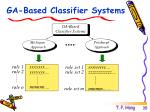 ga based classifier systems