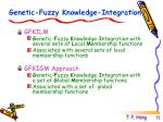 genetic fuzzy knowledge integration
