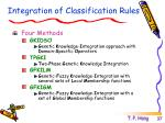integration of classification rules