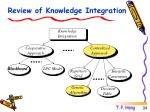 review of knowledge integration
