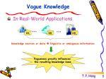 vague knowledge