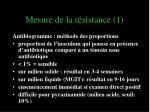 mesure de la r sistance 1
