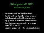 rifampicine r rif pharmacodynamie