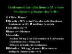 traitement des infections m avium prophylaxie primaire chez vih