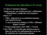 traitement des infections m avium