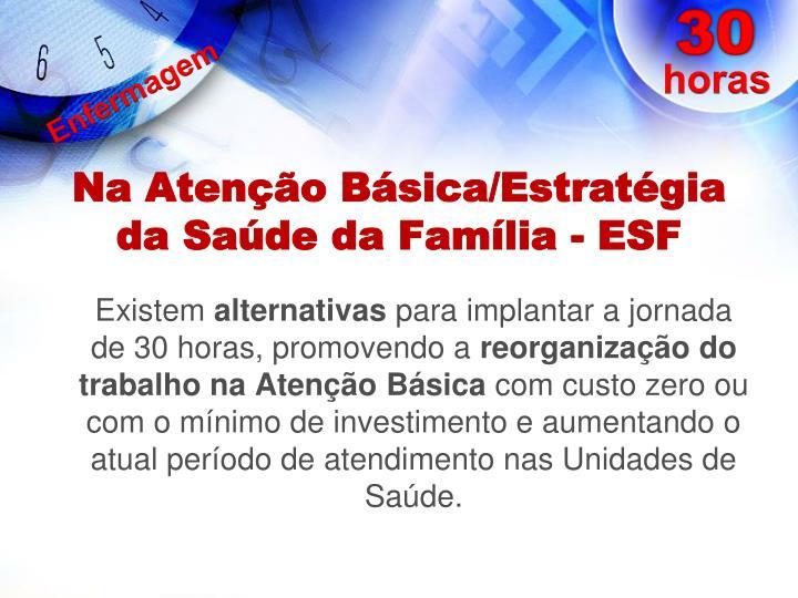 Na Atenção Básica/Estratégia da Saúde da Família - ESF