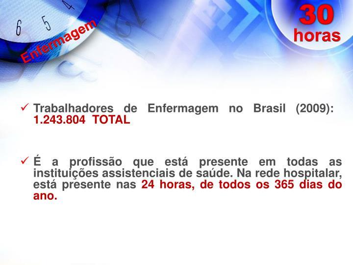 Trabalhadores de Enfermagem no Brasil (2009):