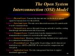 the open system interconnection osi model