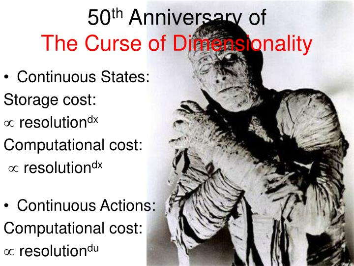 50 th anniversary of the curse of dimensionality n.
