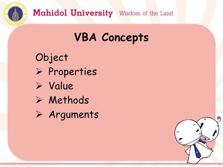 VBA Concepts