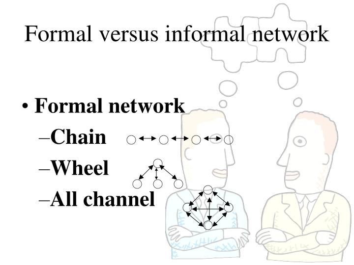 a report on formal communication network Analysis of informal communication networks tion with social network analysis methods the statistical properties of a formal graph  report abuse: download to.