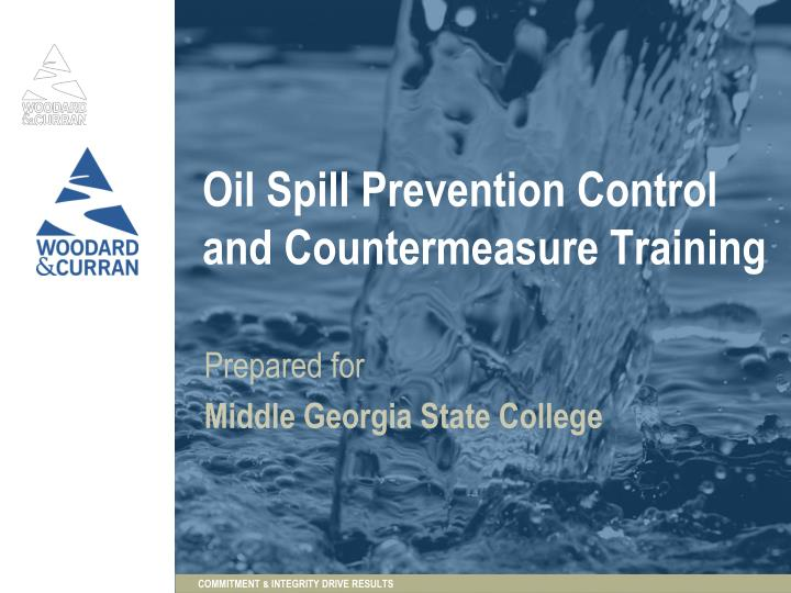 oil spill prevention control and countermeasure training n.
