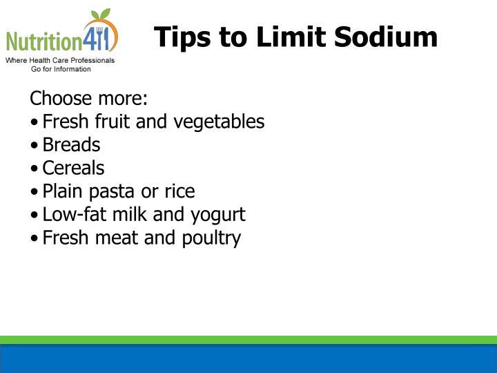 Tips to Limit Sodium