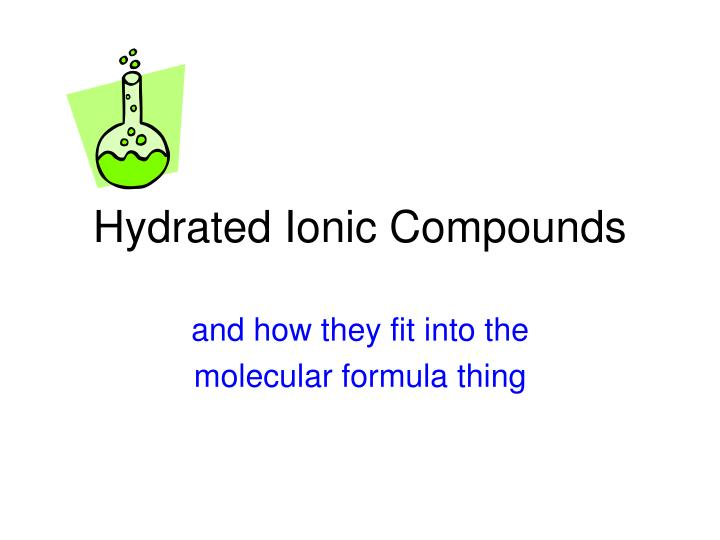 hydrated ionic compounds n.