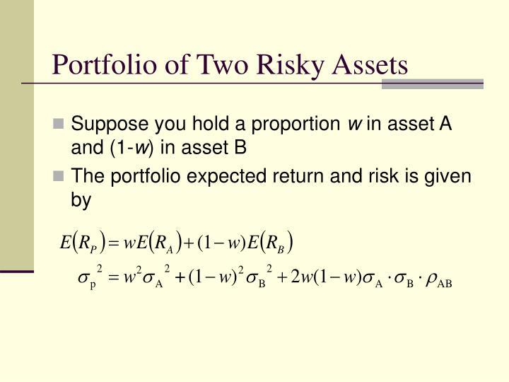 Portfolio of Two Risky Assets
