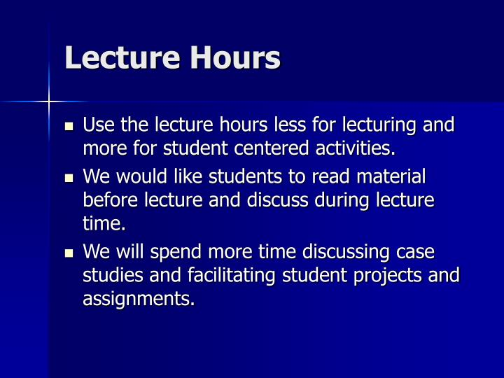 Lecture Hours