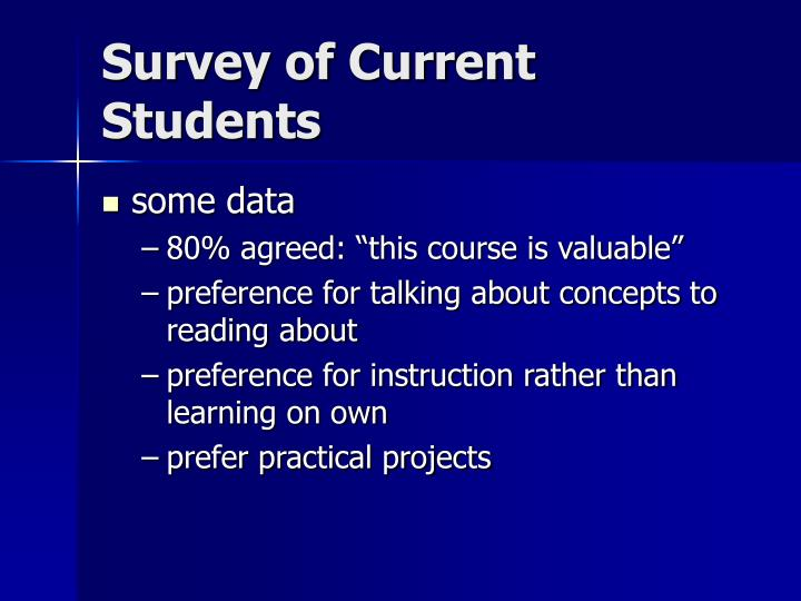 Survey of Current Students