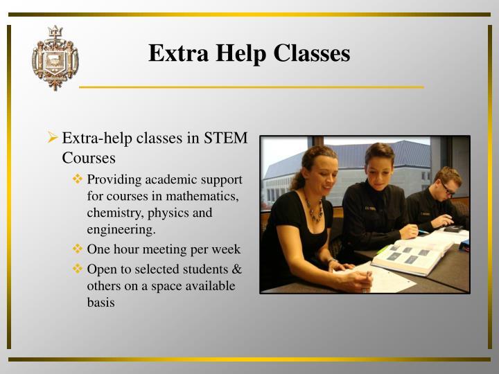 Extra Help Classes