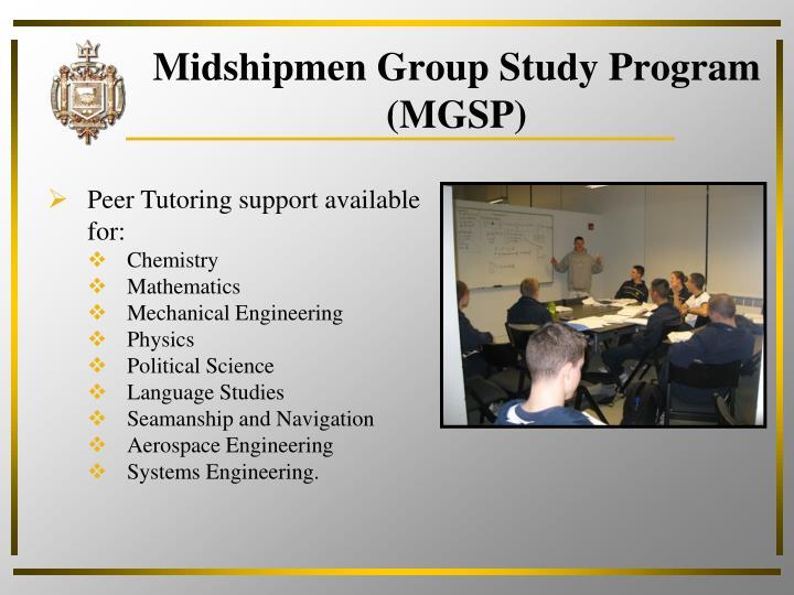 Midshipmen Group Study Program (MGSP)
