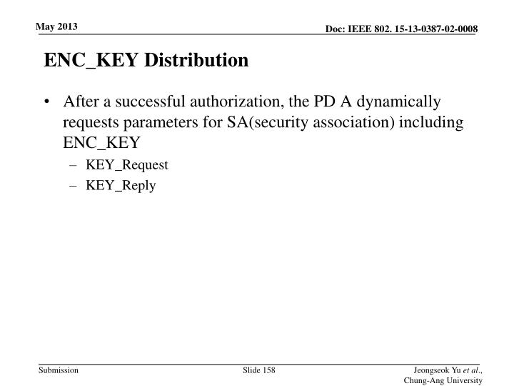 ENC_KEY Distribution