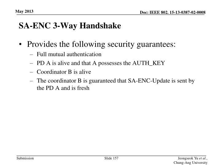 SA-ENC 3-Way Handshake