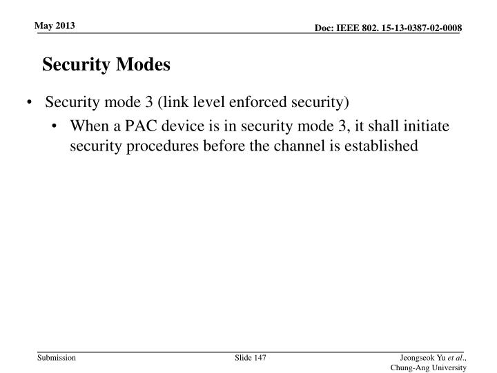 Security Modes