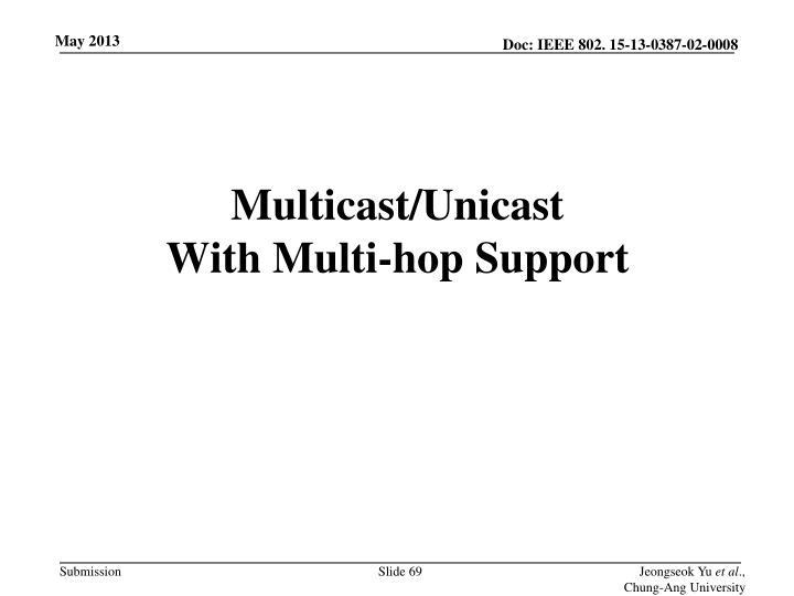 Multicast/Unicast