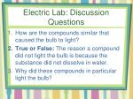 electric lab discussion questions