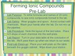 forming ionic compounds pre lab