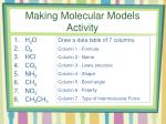 making molecular models activity