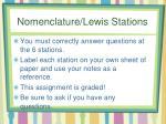nomenclature lewis stations