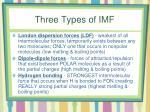 three types of imf