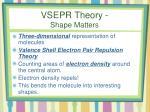 vsepr theory shape matters