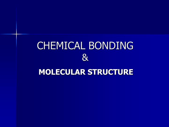 chemical bonding n.