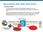securing the wild wild west cont4