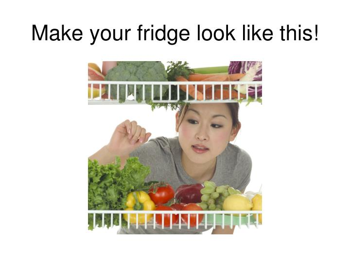 Make your fridge look like this!
