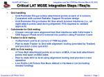 critical lat mgse integration steps req ts