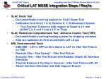 critical lat mgse integration steps req ts1