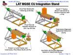 lat mgse cu integration stand