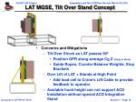 lat mgse tilt over stand concept