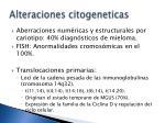 alteraciones citogeneticas