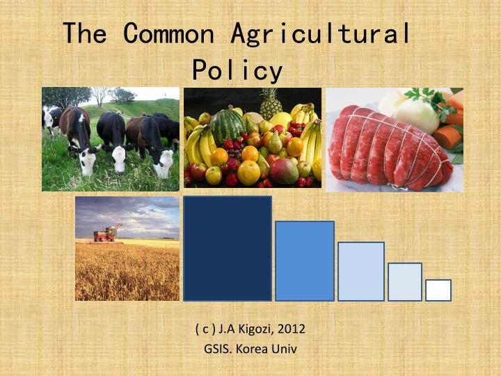 the common agricultural policy n.