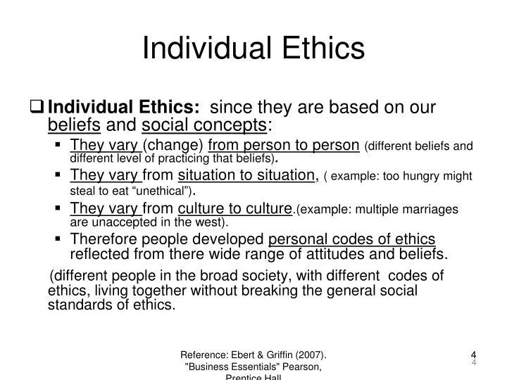 Individual Ethics