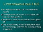 5 post replicational repair sos