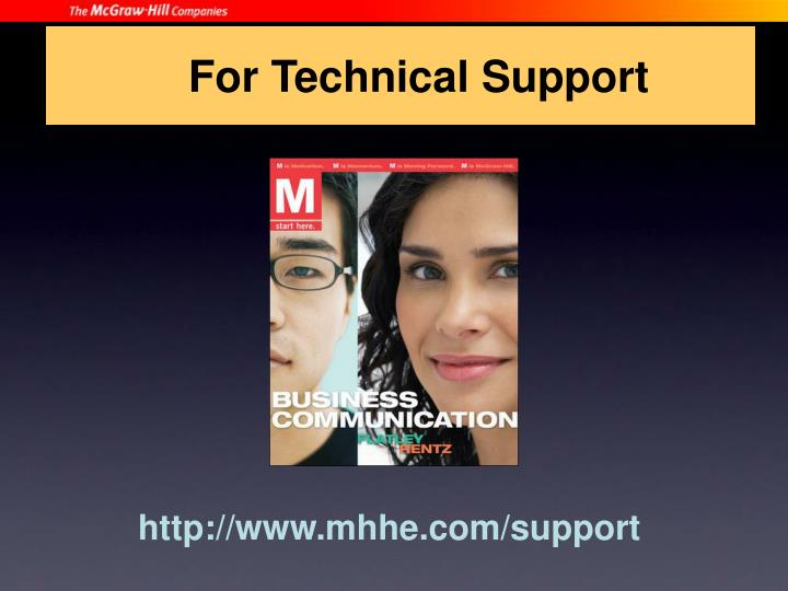 For Technical Support
