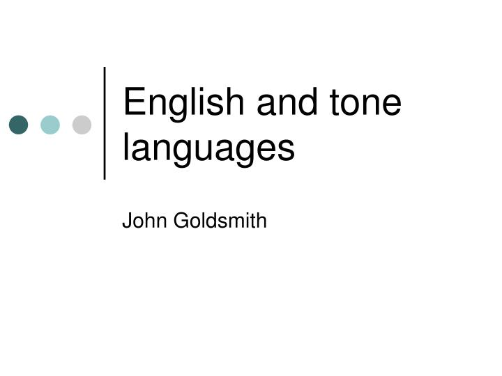 english and tone languages n.
