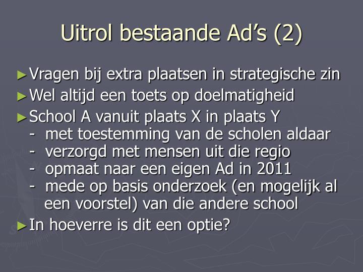 Uitrol bestaande Ad's (2)