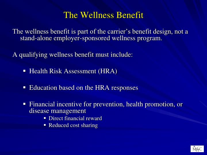 The Wellness Benefit