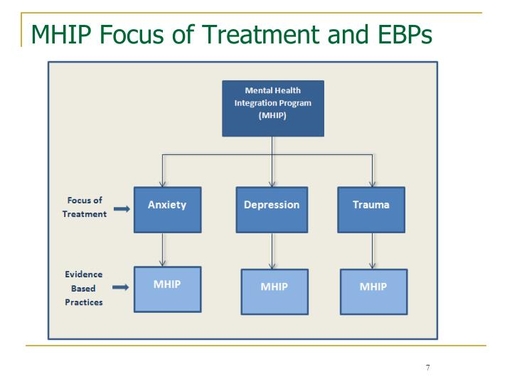 MHIP Focus of Treatment and EBPs