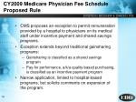 cy2009 medicare physician fee schedule proposed rule